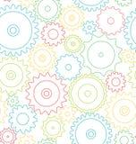 Seamless pattern cogwheels stock illustration