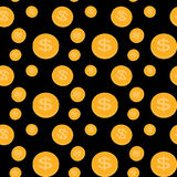Seamless pattern of the coins. Vector Illustration. Royalty Free Stock Images