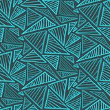 Seamless pattern with cold blue scribble triangles. Doodle seamless pattern with cold blue scribble triangles. Abstract fashion trendy  texture with hand drawn Royalty Free Stock Photos