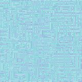 Seamless pattern in cold tones with a pattern of curved lines. Royalty Free Stock Photography
