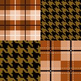 Seamless pattern collection Royalty Free Stock Photos