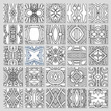 25 seamless pattern collection. 25 seamless decorative pattern collection, vector illustration Stock Images