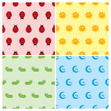 Seamless pattern collection Stock Photo