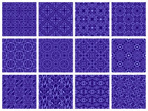 Seamless pattern collection Stock Photography