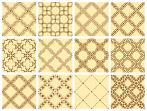 Seamless pattern collection Royalty Free Stock Images