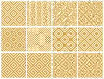 Seamless pattern collection Stock Photos