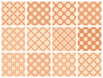Seamless pattern collection Stock Images