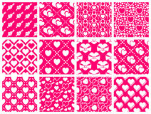 Seamless pattern collection. Set of 12 valentine day seamless wallpaper pattern Royalty Free Stock Photography