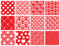 Seamless pattern collection. Set of 12 valentine day seamless wallpaper pattern Royalty Free Stock Image