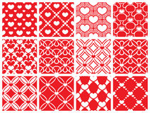 Seamless pattern collection. Set of 12 valentine day seamless wallpaper pattern Stock Image
