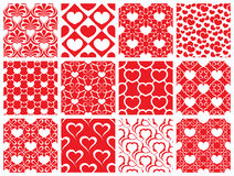 Seamless pattern collection. Set of 12 valentine day seamless wallpaper pattern Stock Photos