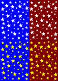 Seamless pattern collection with stars Stock Image