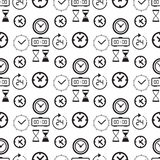 Seamless pattern collection with watches Stock Image