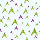 Seamless pattern of color arrows. Vector background with seamless pattern of color arrows for your design Stock Photos