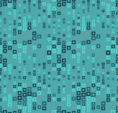 Seamless pattern on a color background. Has the shape of a wave. Consists of through geometric elements in color. Stock Photography
