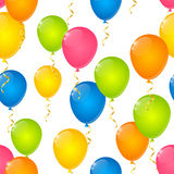 Seamless pattern with color balloons.  Stock Photo