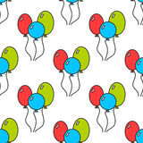 Seamless pattern with color balloons. Festive background. Vector. Illustration Stock Images