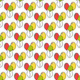 Seamless pattern with color balloons. Festive background. Vector. Illustration Stock Photos