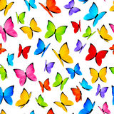 Seamless pattern with color butterflies Royalty Free Stock Images