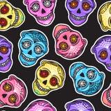 Set Color Calavera Sign Dia De Los Muertos Mexican Day Of The Dead