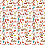 Seamless pattern color Chinese characters. Seamless pattern color  Chinese characters  signs hand drawn Royalty Free Stock Images