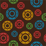 Seamless pattern from color circles Stock Images