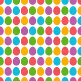 Seamless  pattern with color easter eggs over white background.I Stock Photo