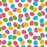 Seamless  pattern with color easter eggs over white background Royalty Free Stock Images