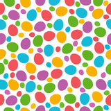 Seamless  pattern with color easter eggs over white background Royalty Free Stock Image