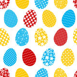 Seamless pattern with color Easter eggs Royalty Free Stock Photos