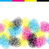 Seamless pattern with color fingerprints Stock Photo