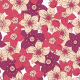 Seamless pattern with color flower romantic royalty free illustration