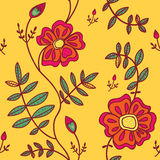 Seamless pattern with color flowers Royalty Free Stock Image
