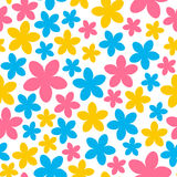 Seamless pattern with color flowers Stock Image