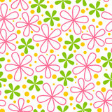 Seamless pattern with color flowers Royalty Free Stock Photo