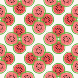Seamless pattern of color hand drawn watermelons Royalty Free Stock Photo