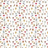Seamless pattern color  Happy Birthday. Seamless pattern color Happy Birthday signs and symbols Royalty Free Stock Photos