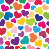 Seamless pattern of color hearts Stock Photography