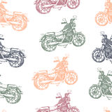 Seamless pattern with color motorbike Royalty Free Stock Photo