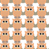 Seamless pattern with color owl Stock Images