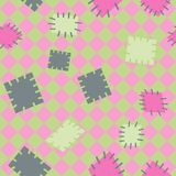 Seamless pattern in color patches. royalty free illustration