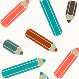 Seamless pattern of color pencil Royalty Free Stock Images