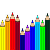 Seamless Pattern with Color Pencils. Rainbow Colors. Vector Illu Royalty Free Stock Photo