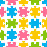 Seamless pattern with color puzzle Stock Images