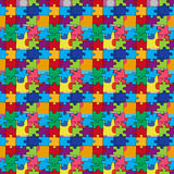 Seamless pattern with color puzzles Stock Photography