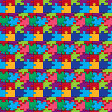 Seamless pattern with color puzzles Royalty Free Stock Photo
