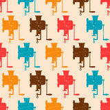 Seamless pattern with color retro grinders Stock Photos