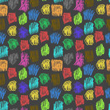 Seamless pattern with color scrawl. For textiles, interior design, for book design, website background Stock Photos