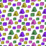 Seamless pattern with color shapes Stock Photos