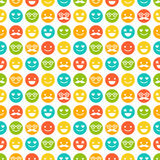 Seamless pattern with color smileys Royalty Free Stock Photo
